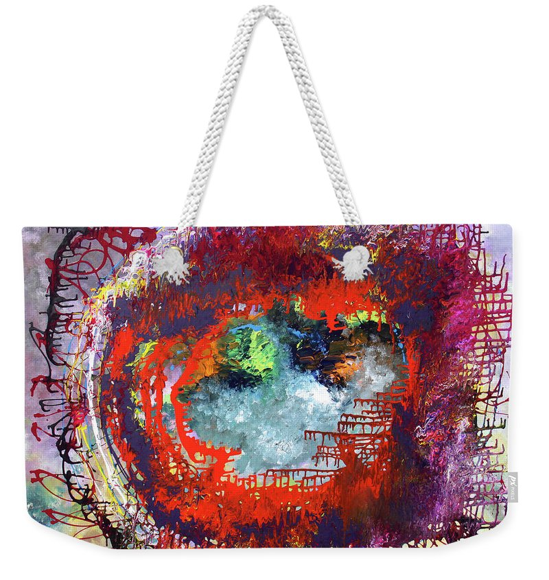 Fusionart Weekender Tote Bag featuring the painting Big Optic by Ralph White