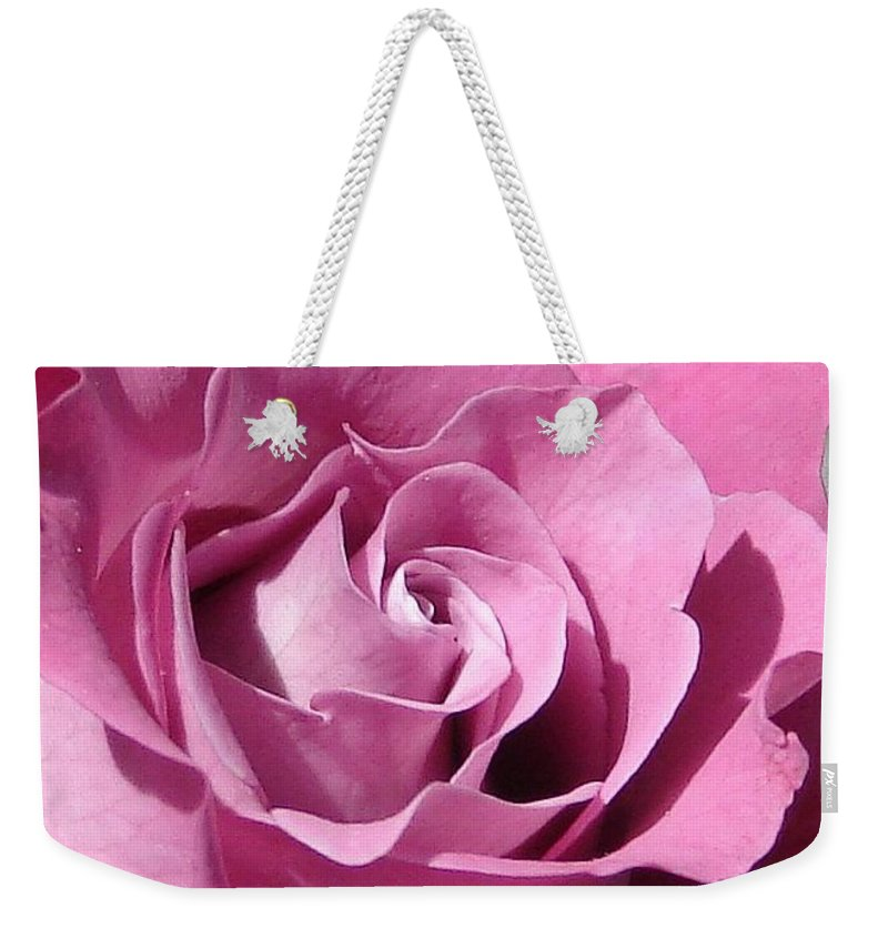 Rose Pink Weekender Tote Bag featuring the photograph Big Pink by Luciana Seymour