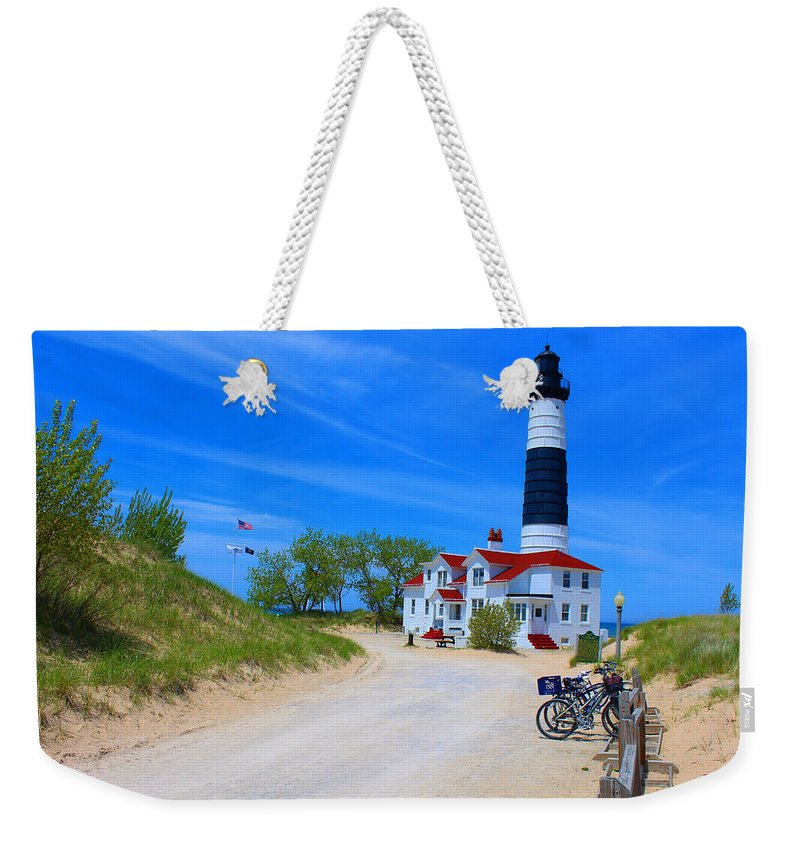 Lighthouse Weekender Tote Bag featuring the photograph Big Sable Point Lighthouse by Michael Rucker