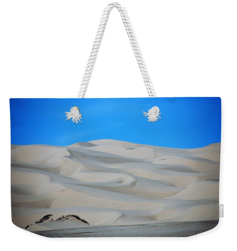 Sand Weekender Tote Bag featuring the photograph Big Sand Dunes In Ca by Susanne Van Hulst