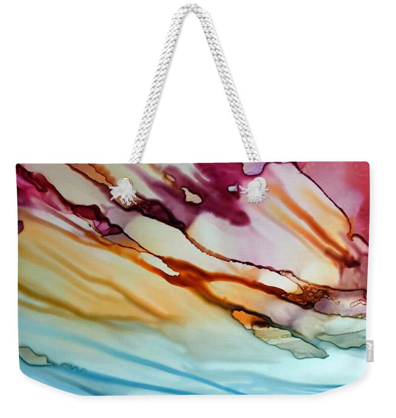 Landscape Weekender Tote Bag featuring the painting Big Sky by Beth Kluth