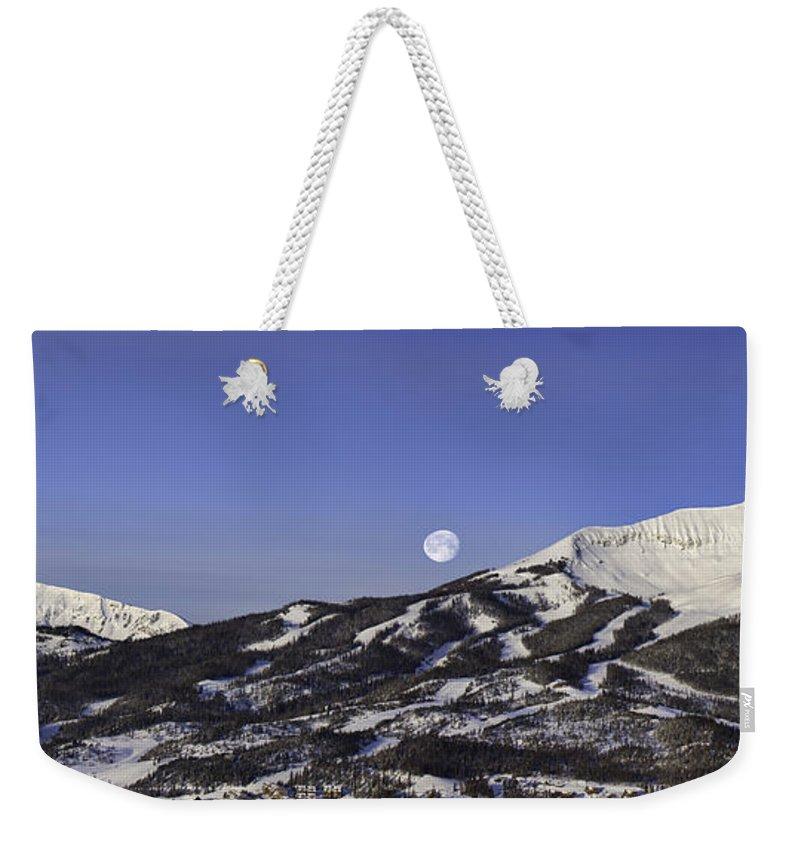 Panorama Weekender Tote Bag featuring the photograph Big Sky Panorama by Mark Harrington