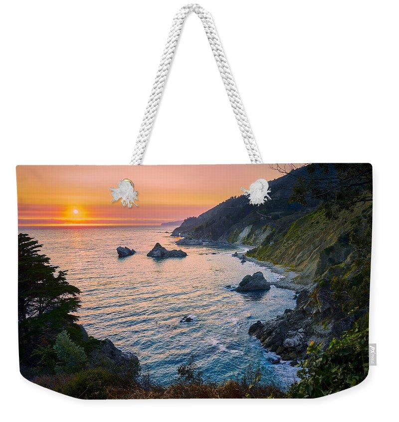 Big Sur Weekender Tote Bag featuring the photograph Big Sur Evening by Jens Peermann