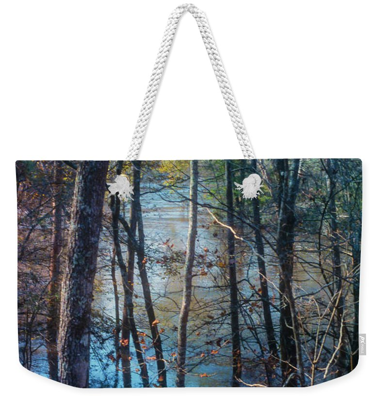 Big Thicket National Preserve Weekender Tote Bag featuring the photograph Big Thicket Water Reflection by Bob Phillips