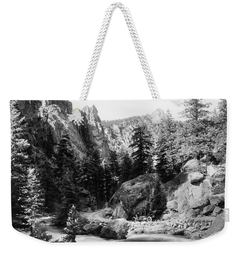 1910 Weekender Tote Bag featuring the photograph Big Thompson Canyon by Granger