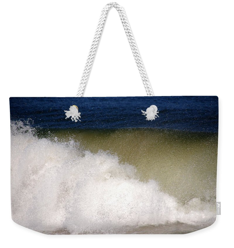 Waves Weekender Tote Bag featuring the photograph Big Waves by Susanne Van Hulst