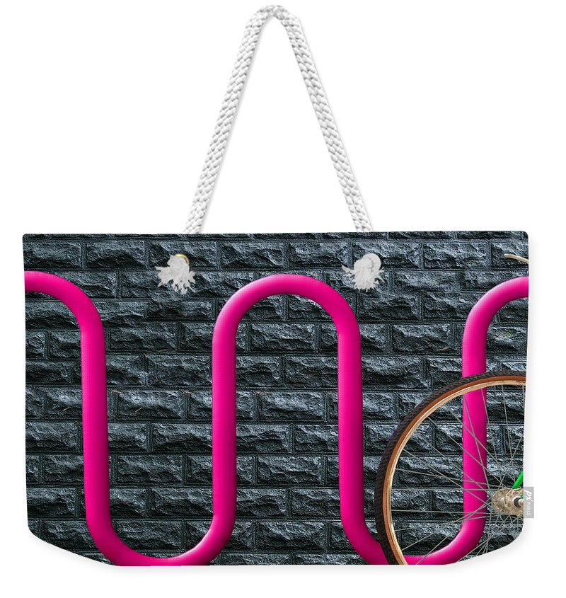 Bike Rack Weekender Tote Bag featuring the photograph Bike Rack by Paul Wear