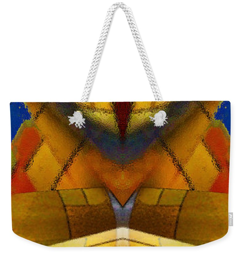 Digital Fine Art From Original Photography Weekender Tote Bag featuring the digital art Bilateral Colors by Paul Gentille