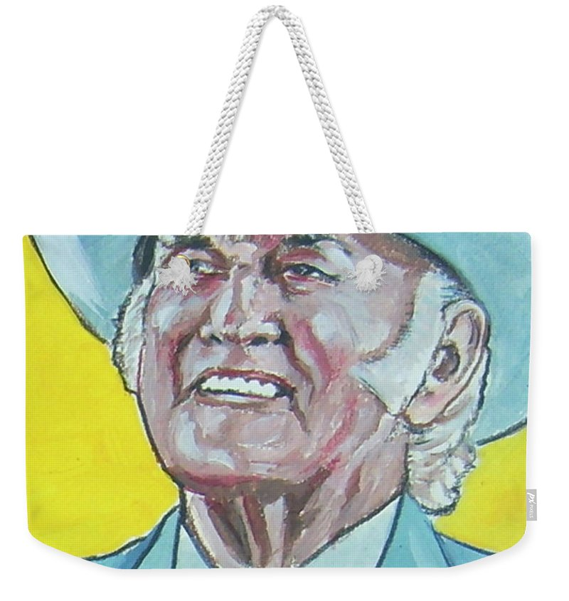 Bill Monroe Weekender Tote Bag featuring the painting Bill Monroe by Bryan Bustard