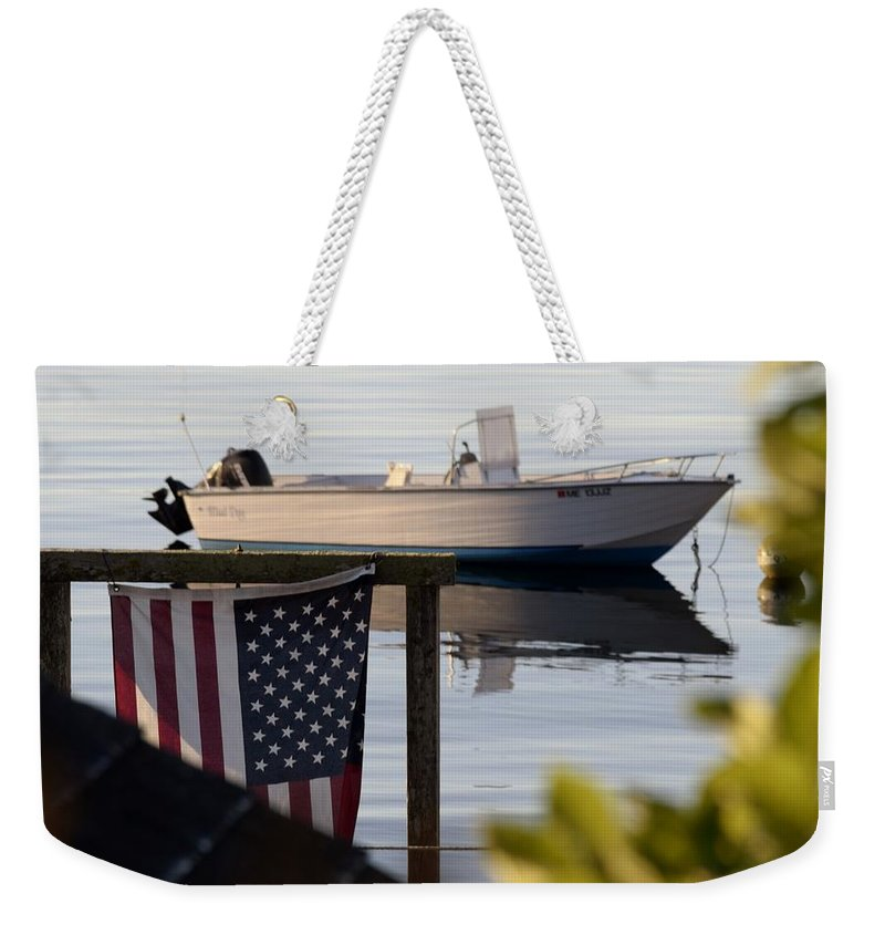 Maine Weekender Tote Bag featuring the photograph Billy's Boat by Pam Meoli