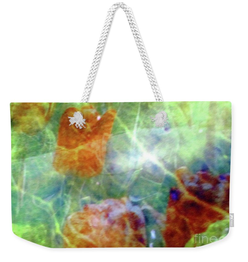 Abstract Weekender Tote Bag featuring the photograph Bio Life by Randall Weidner