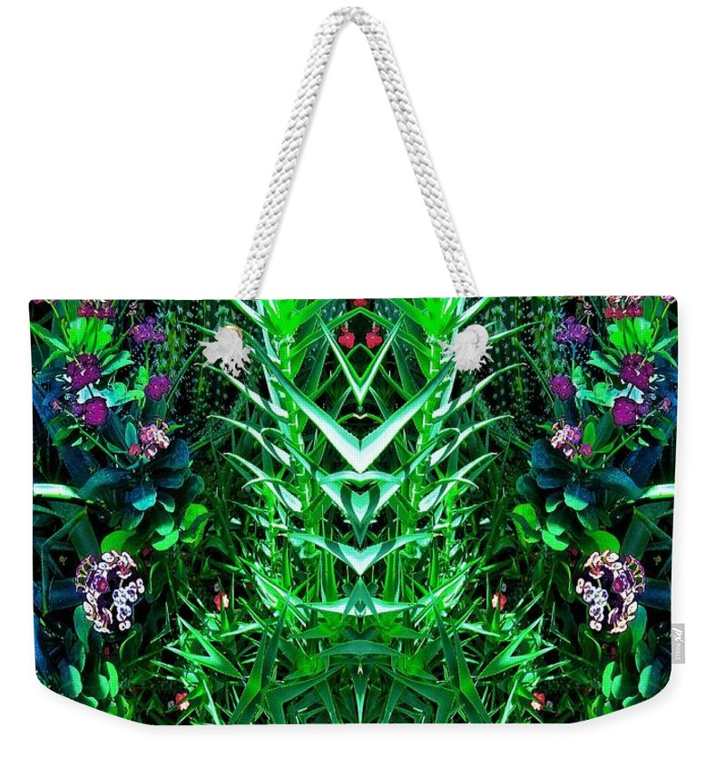 Weekender Tote Bag featuring the digital art Biologix by Charles Duax