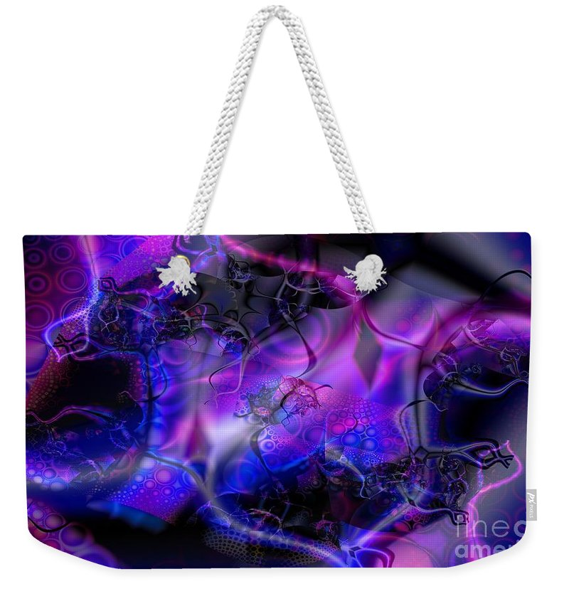 Bioluminescence Weekender Tote Bag featuring the digital art Biolumineon by Ron Bissett