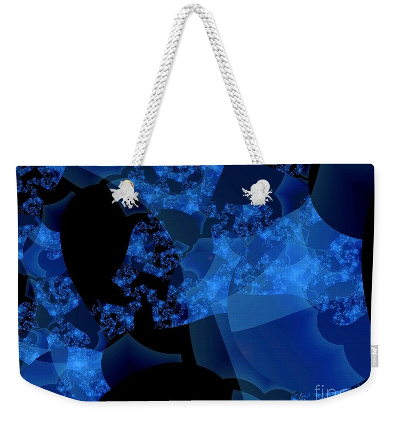 Fractal Art Weekender Tote Bag featuring the digital art Bioluminescence by Ron Bissett