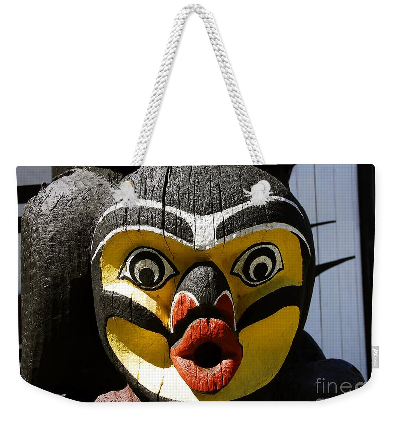 Totem Weekender Tote Bag featuring the photograph Bird Man by David Lee Thompson