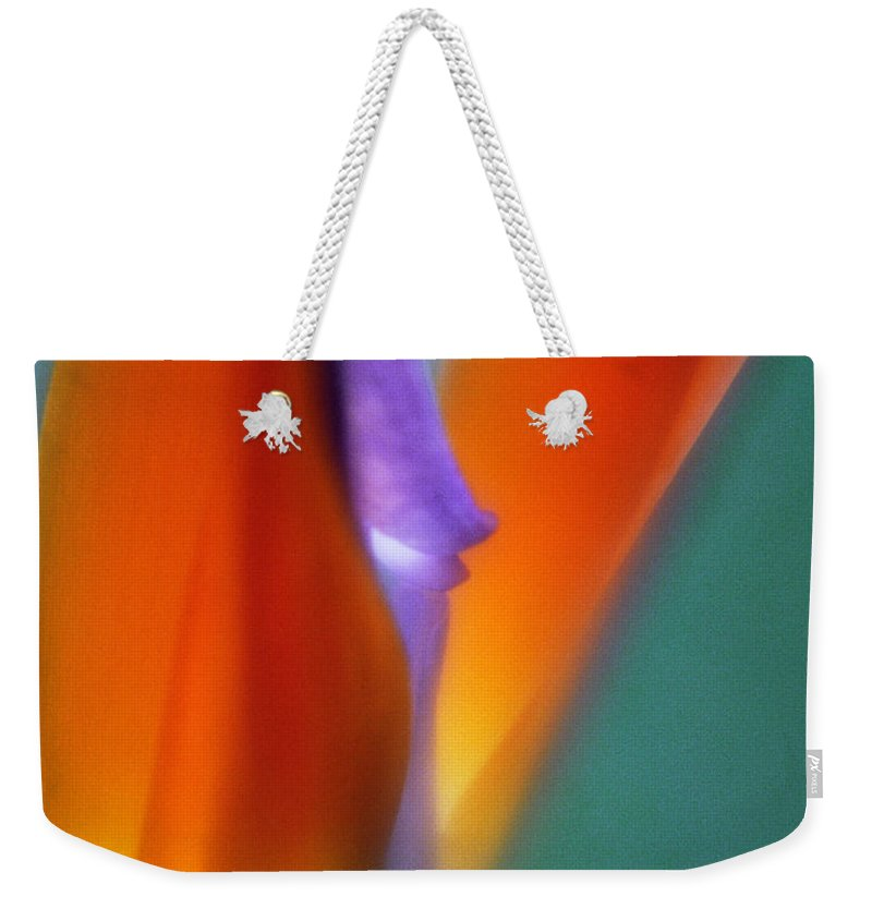 Macrophotography Weekender Tote Bag featuring the photograph Bird Of Paradise 2 by Lee Santa