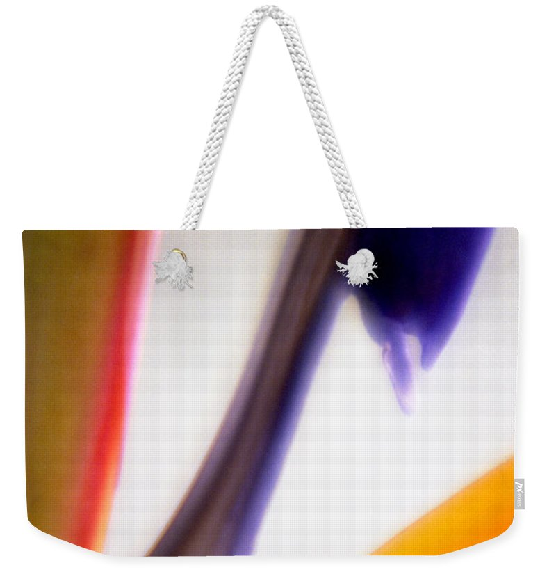 Macro Weekender Tote Bag featuring the photograph Bird Of Paradise by Lee Santa