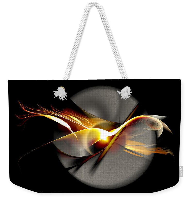 Bird Weekender Tote Bag featuring the digital art Bird of Passage by Aniko Hencz