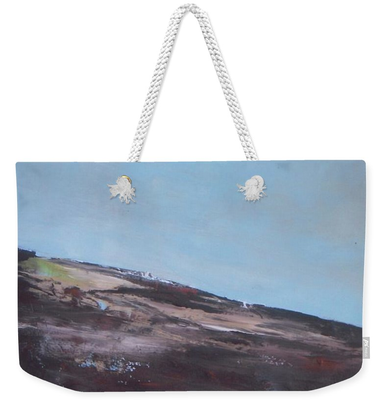 Landscape Weekender Tote Bag featuring the painting Bird Perspective by Vesna Antic