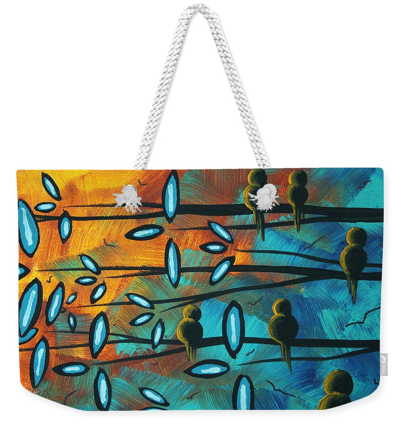 Art Weekender Tote Bag featuring the painting Birds Of Summer By Madart by Megan Duncanson