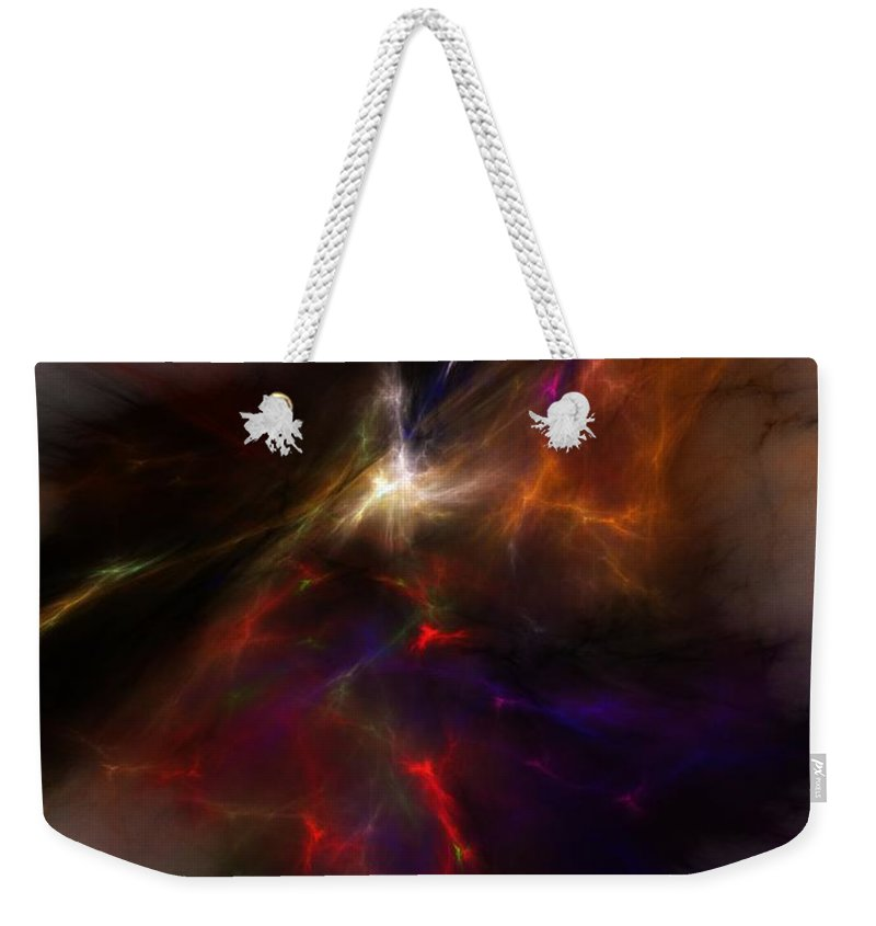 Abstract Digital Painting Weekender Tote Bag featuring the digital art Birth Of A Thought by David Lane