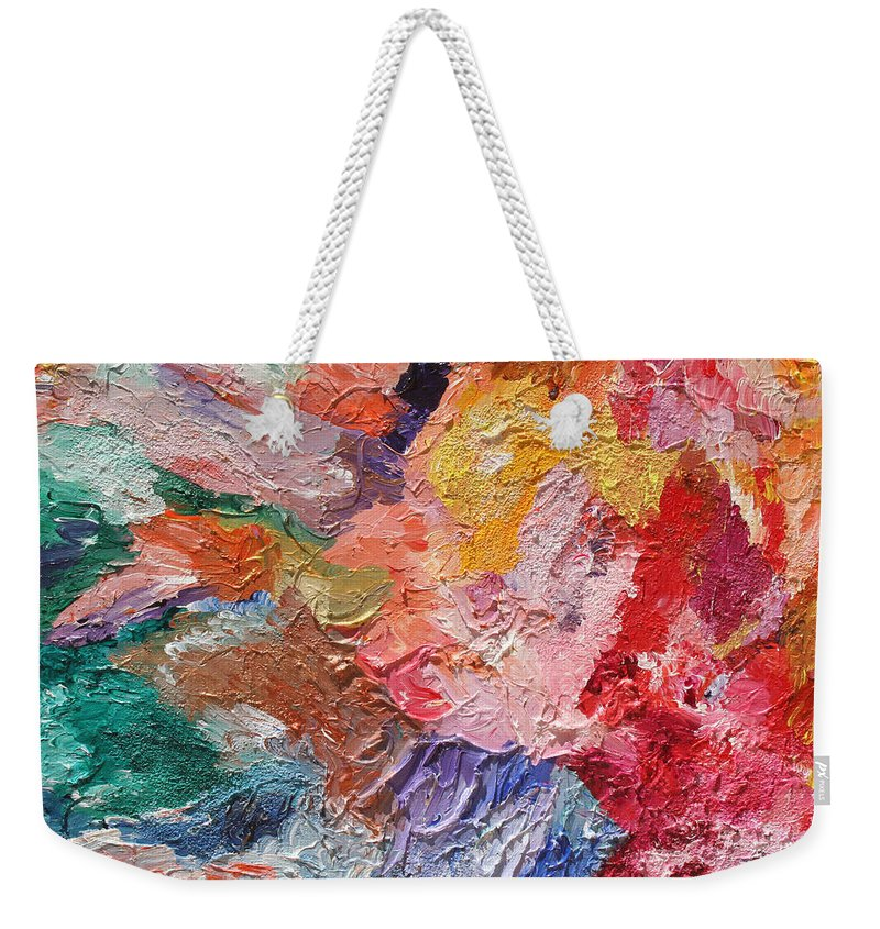 Fusionart Weekender Tote Bag featuring the painting Birth Of Passion by Ralph White