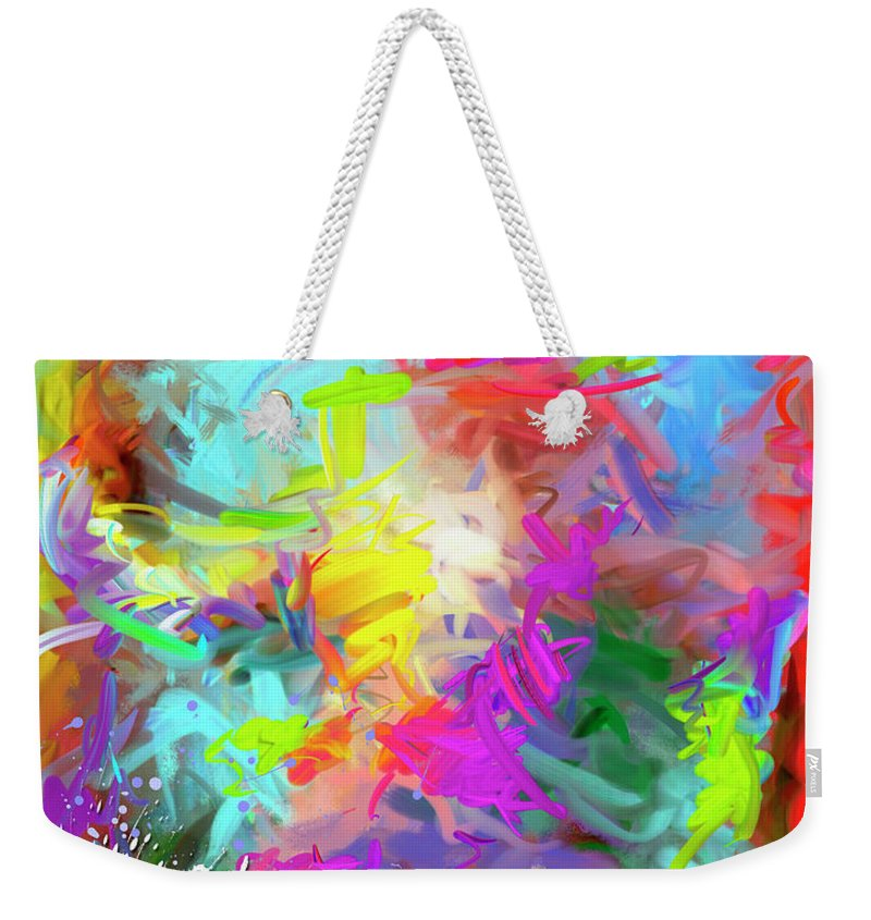 Abstract Weekender Tote Bag featuring the painting Birth Of Venus by Snake Jagger