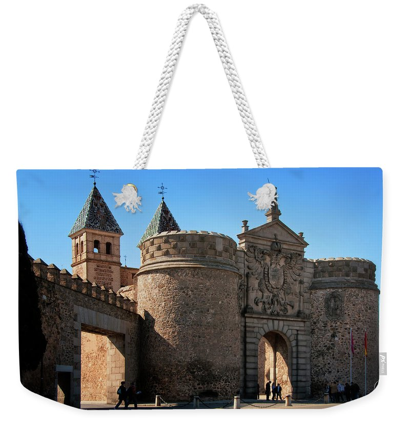Ages Weekender Tote Bag featuring the photograph Bisagra Gate Toledo Spain by Joan Carroll