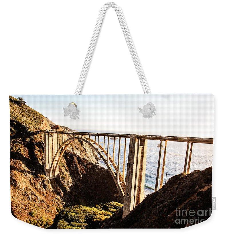 Bixby Bridge Weekender Tote Bag featuring the photograph Bixby Bridge by Scott Pellegrin