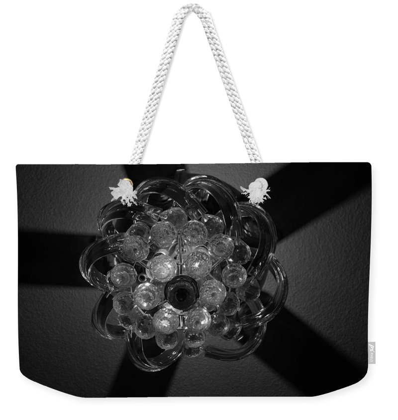 Fan Weekender Tote Bag featuring the photograph Black And White Crystal by Rob Hans