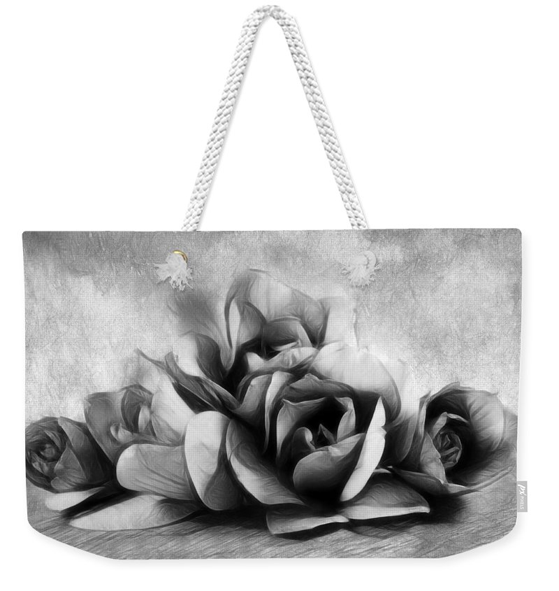 Magnolia Weekender Tote Bag featuring the photograph Black And White Is Beautiful by Georgiana Romanovna