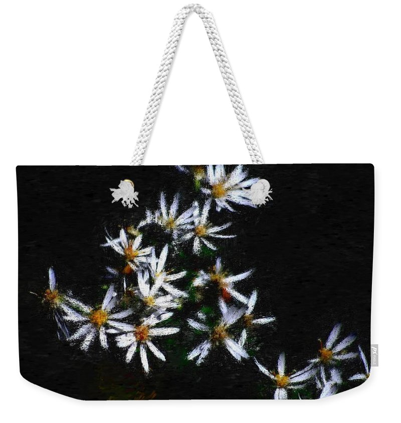 Digital Photograph Weekender Tote Bag featuring the digital art Black And White Study II by David Lane