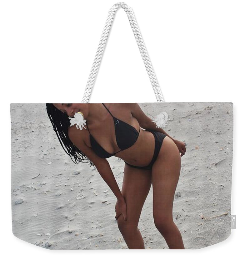 Ebony Weekender Tote Bag featuring the photograph Black Bikinis 26 by Christopher White