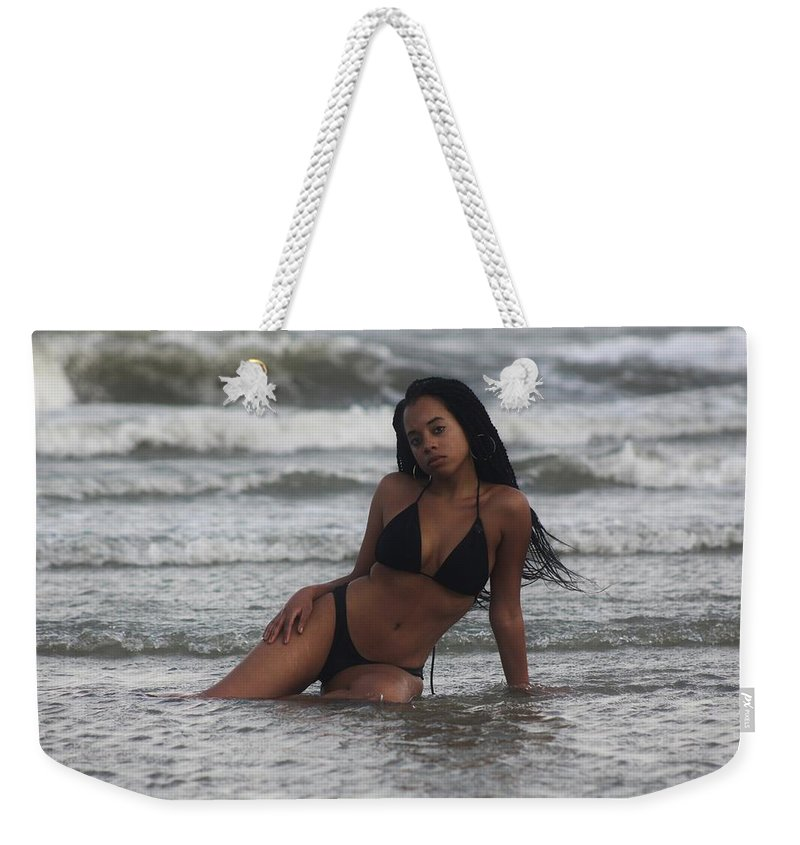 Water Weekender Tote Bag featuring the photograph Black Bikinis 35 by Christopher White