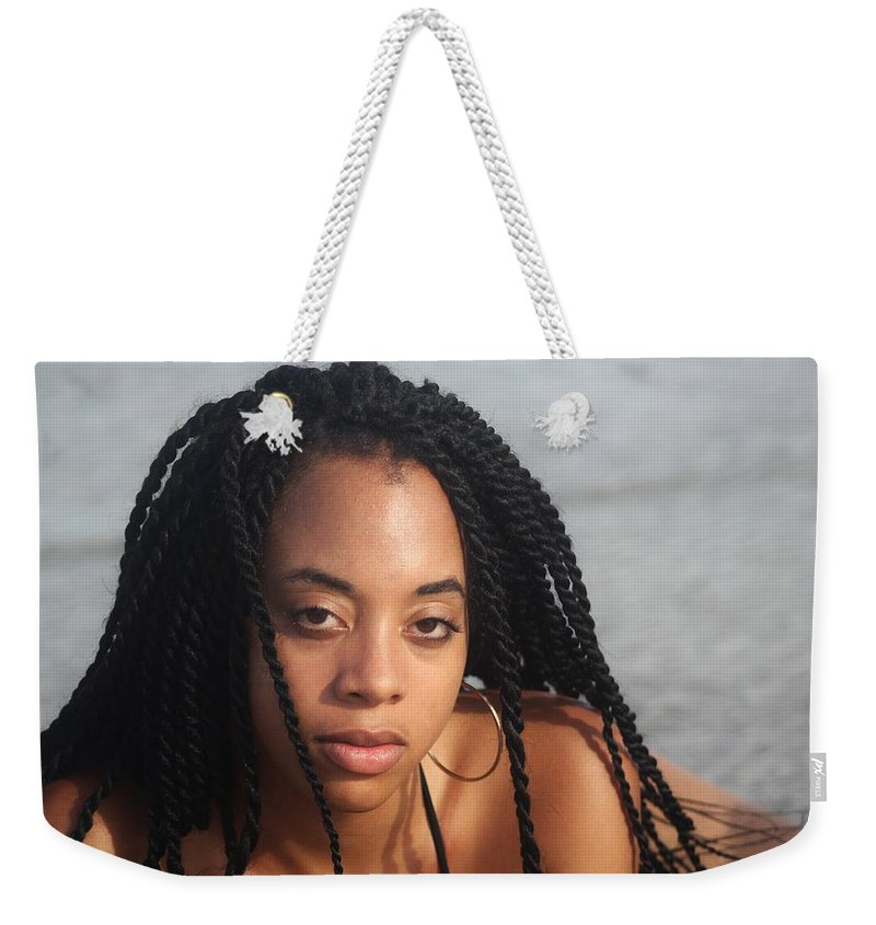 Ebony Weekender Tote Bag featuring the photograph Black Bikinis 44 by Christopher White
