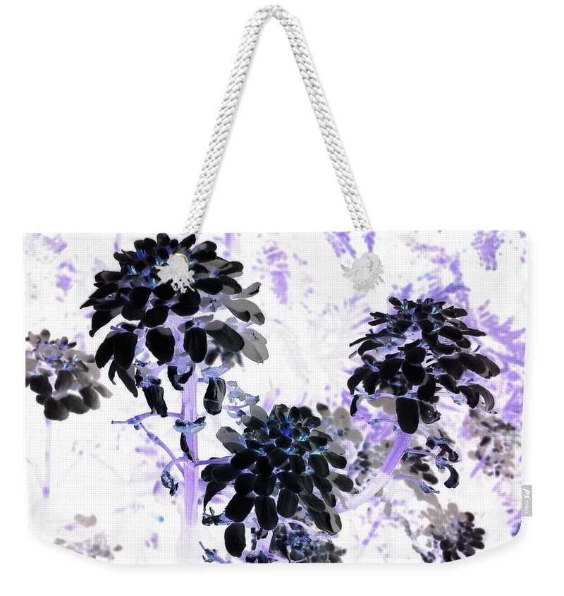 Orphelia Aristal Weekender Tote Bag featuring the photograph Black Blooms I I by Orphelia Aristal