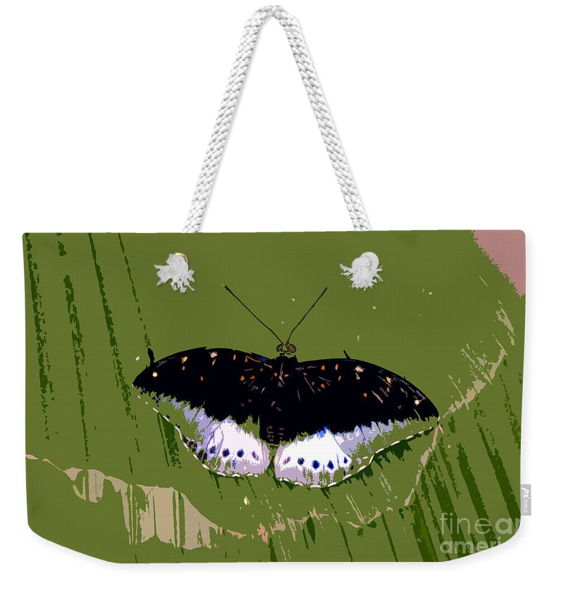 Butterfly Weekender Tote Bag featuring the photograph Black Butterfly by David Lee Thompson