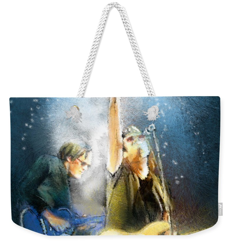 Music Weekender Tote Bag featuring the painting Black Country Communion 02 by Miki De Goodaboom