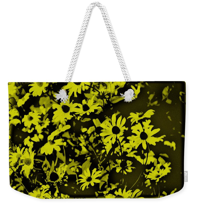 Flowers Weekender Tote Bag featuring the photograph Black Eyed Susan's by Bill Cannon