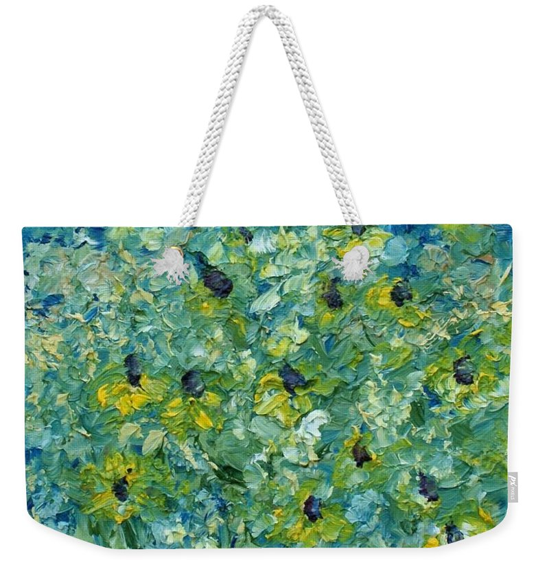 Flowers Weekender Tote Bag featuring the painting Black-eyed Susans by Christopher O'Kelley