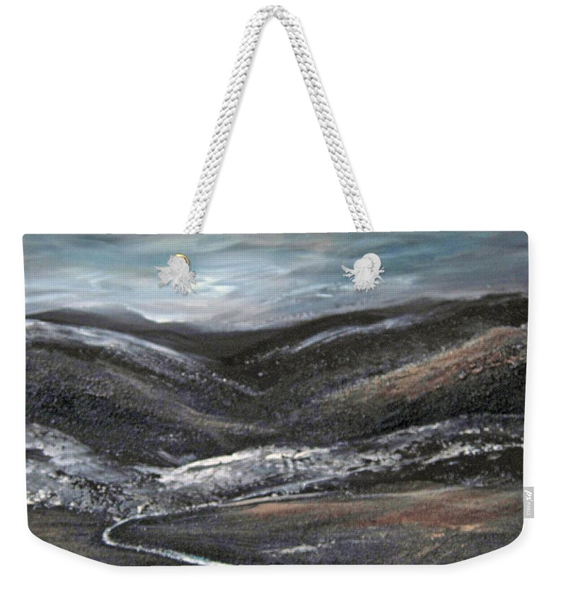Hills Weekender Tote Bag featuring the painting Black Hills by Roberta Rotunda