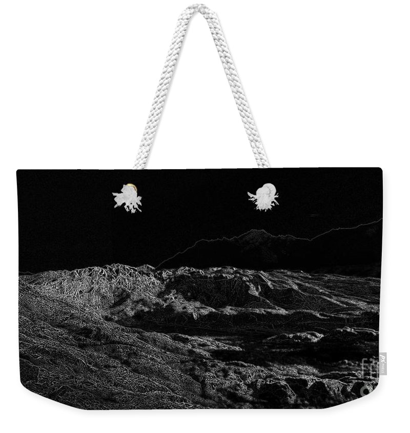 Black Ice Weekender Tote Bag featuring the photograph Black Ice by Ron Bissett