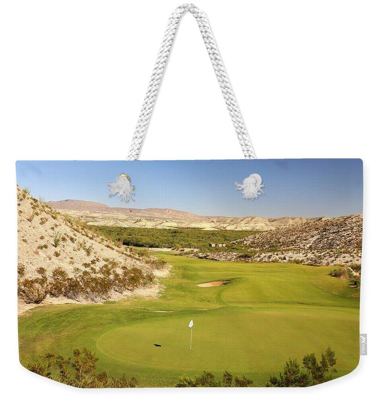 Black Jack's Crossing Weekender Tote Bag featuring the photograph Black Jack's Crossing Golf Course Hole 12 by Judy Vincent