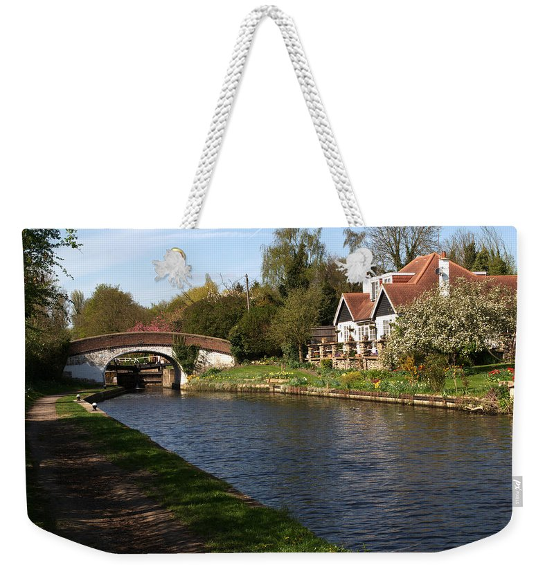 Black Jack Weekender Tote Bag featuring the photograph Black Jacks On The Grand Union by Chris Day
