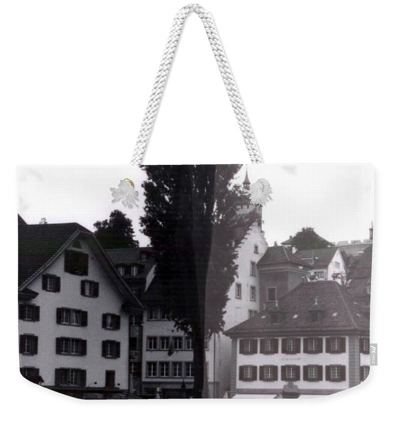 Black And White Weekender Tote Bag featuring the photograph Black Lucerne by Christian Eberli