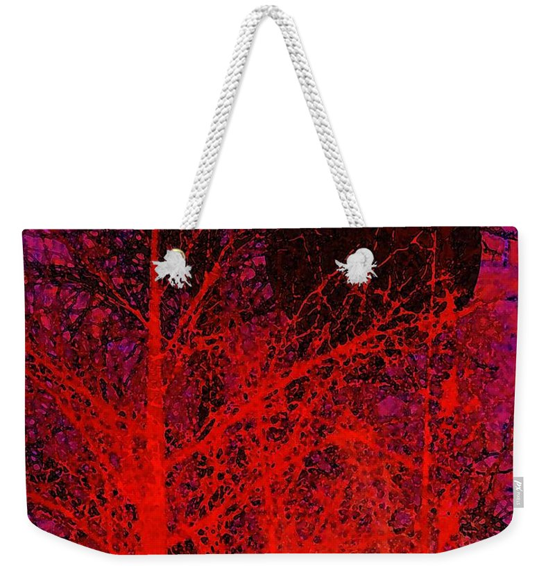 Digital Art Weekender Tote Bag featuring the digital art Black Moon by Richard Rizzo