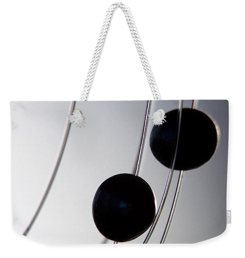 Abstract Weekender Tote Bag featuring the photograph Black Pearls by Lauren Radke