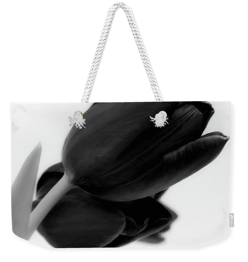 Tulips Weekender Tote Bag featuring the photograph Black Tulips by Wim Lanclus