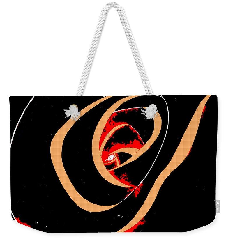 Black Weekender Tote Bag featuring the digital art Black Tunnel by Maria Ortega Morales