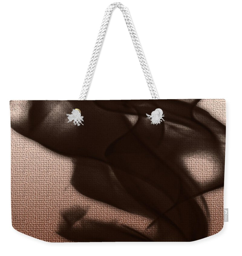 Clay Weekender Tote Bag featuring the digital art Black Vector Apparition by Clayton Bruster